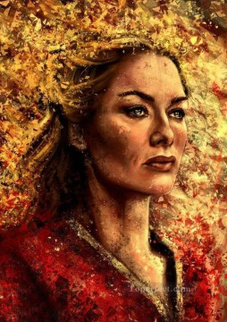 Thrones Art Painting - Portrait of Cersei Lannister decor Game of Thrones