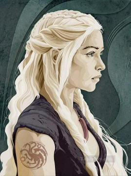 Artworks in 150 Subjects Painting - Portrait of Daenerys Targaryen 4 Game of Thrones
