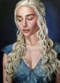 Portrait of Daenerys Targaryen photo style Game of Thrones