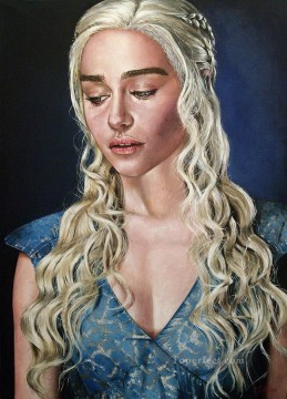 Thrones Art Painting - Portrait of Daenerys Targaryen photo style Game of Thrones