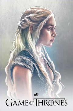 Thrones Canvas - Portrait of Daenerys Targaryen poster style Game of Thrones