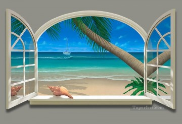 Ocean View magic 3D Oil Paintings