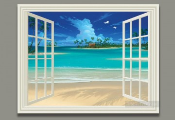 Seascape Painting Summer Breeze magic 3D Oil Paintings