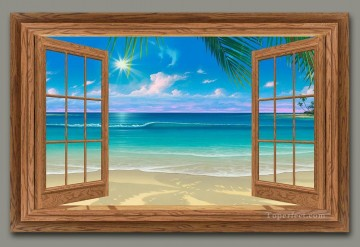 View of Paradise magic 3D Oil Paintings