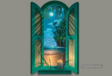 3d magic fantasy Painting - candle seaside magic 3D