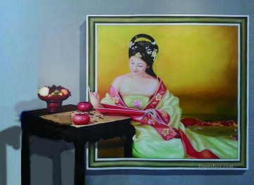 Chinese maiden 3D Oil Paintings