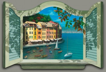 Colors of Portofino magic 3D Oil Paintings