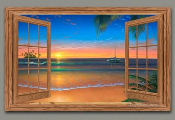 Evening in Paradise Paradise image magic 3D Oil Paintings