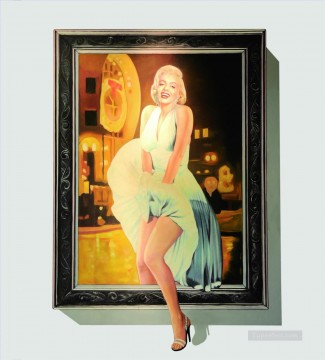 Marilyn Monroe in frame 3D Oil Paintings