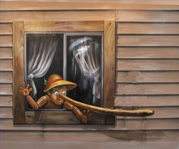 Pinocchio 3D Oil Paintings