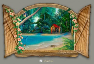 Surf Shack  magic 3D Oil Paintings