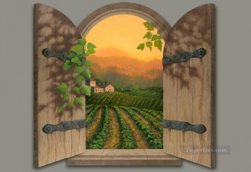 Tuscan Sun magic 3D Oil Paintings