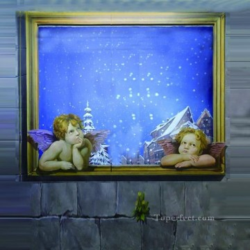 Magic 3D Painting - angels in snow 3D