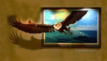 Magic 3D Painting - eagle out of frame 3D
