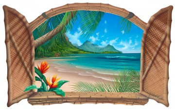 3d magic fantasy Painting - looking out window painting magic 3D