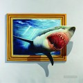 shark out of frame 3D