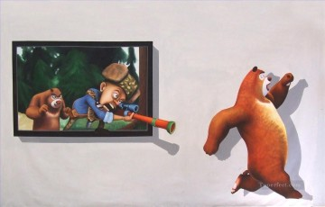 shooting cartoon 3D Oil Paintings