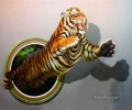 tiger growls 3D