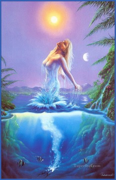 Popular Fantasy Painting - Fountain of Youth Fantasy