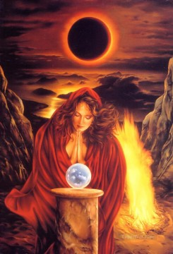 Fantasy Oil Painting - JPA The Solar Eclipse Fantasy