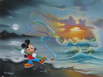 Popular Fantasy Painting - Mickey Colors the Sea and Sky Fantasy