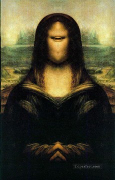 mona lisa Painting - Mona Lisa Mirror Fantasy