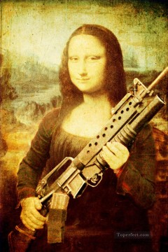 Mona Lisa with Arms darkyer Fantasy Oil Paintings