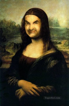 mona lisa Painting - Mr Bean as Mona Lisa Fantasy