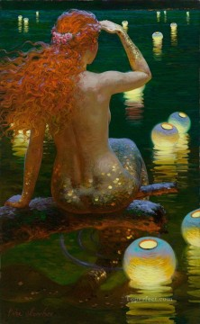 mermaid Painting - Victor Nizovtsev 1965 Russian mermaid Fantasy