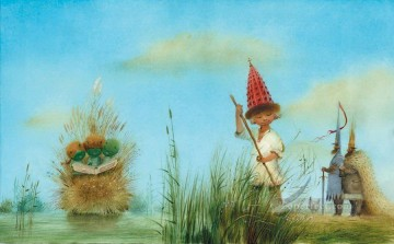 Tales Oil Painting - fairy tales boy Fantasy