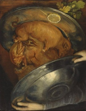 man of pig Giuseppe Arcimboldo Fantasy Oil Paintings