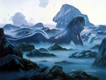 Popular Fantasy Painting - nude of mountain Fantasy