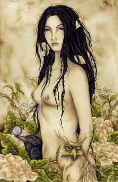 the art of thorn queen Fantasy Oil Paintings