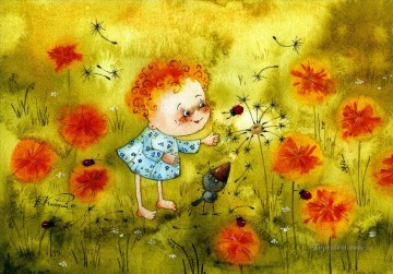 lion art - vk children dandelions Fantasy