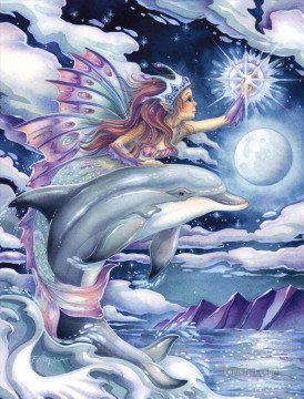 wish upon a dolphin star Fantasy Oil Paintings