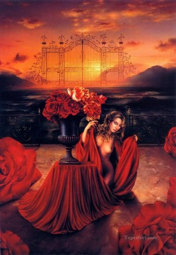 rose roses Painting - JPA Rose Gate Fantasy