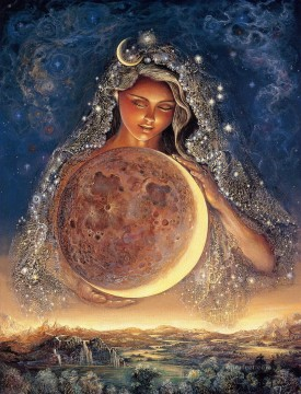Fantasy Oil Painting - JW goddesses moon goddess Fantasy