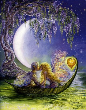 JW romance wisteria moon Fantasy Oil Paintings