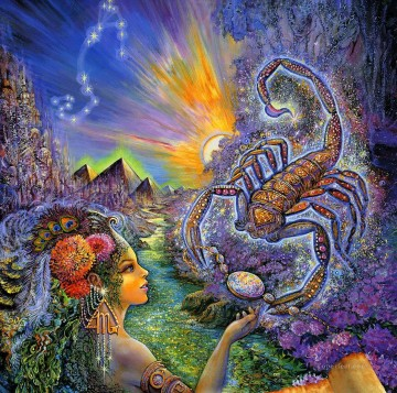 JW scorpio Fantasy Oil Paintings