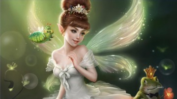 Litle Fairy Fantasy Oil Paintings