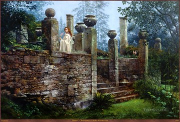 Queen Mab in the Ruins Fantasy Oil Paintings