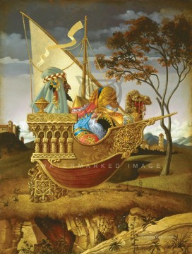 THREE WISE MEN IN A BOAT Fantasy Oil Paintings
