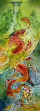 climbing the dragon gate iii Fantasy Oil Paintings