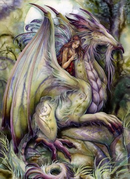 Dream Painting - dragon nothing happens unless first a dream Fantasy