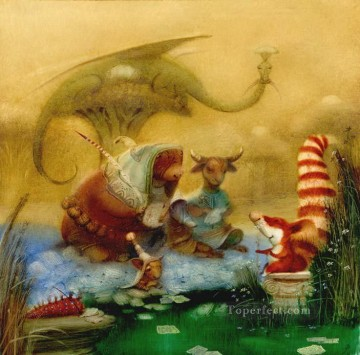 Tales Oil Painting - fairy tales animals Fantasy