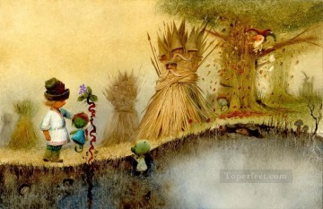 Tales Oil Painting - fairy tales straw men Fantasy