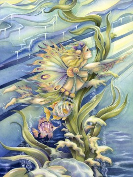 Dream Painting - fish follow a dream Fantasy