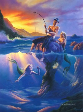 Popular Fantasy Painting - fishing Fantasy