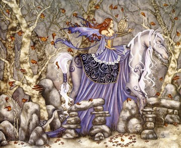 horse rhiannon 2001 Fantasy Oil Paintings