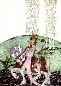 Tales Oil Painting - kay nielsen norwegian tales lassy and her godmother Fantasy